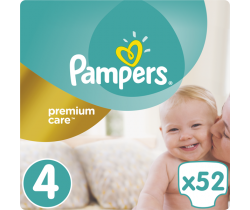 Pleny Pampers Premium Care Maxi 4 (8-14 kg) 52 ks