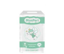 Dětské pleny 56 ks 5-8 kg Monperi Eco Comfort M