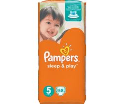 Pleny Pampers Sleep&Play Junior Jumbo Pack 5 (11-18 kg) 58 ks