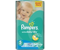 Pleny Pampers Giantpack Junior 5 (11-16 kg) 64 ks