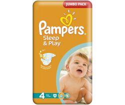 Pleny Pampers Sleep&Play Maxi Jumbo Pack 4 (7-14 kg) 68 ks