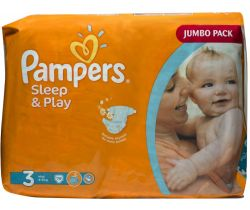 Pleny Pampers Sleep&Play Jumbo Pack Midi 3 (4-9 kg) 78 ks