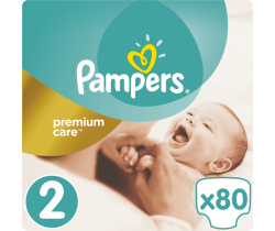 Pleny Pampers Premium Mini 2 (3-6 kg) 80 ks