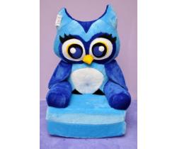 Dětské plyšové křesílko Smyk 2v1 Blue Owl