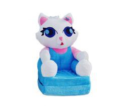 Dětské plyšové křesílko Smyk 2v1 Cat Blue