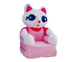Dětské plyšové křesílko Smyk 2v1 Cat Pink
