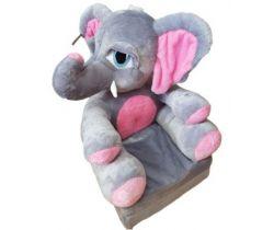Dětské plyšové křesílko Smyk 2v1 Elephant