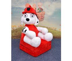 Dětské plyšové křesílko Smyk 2v1 Fireman Dog