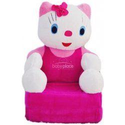 Dětské plyšové křesílko Smyk 2v1 Hello Kitty