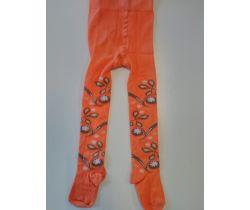 Dětské punčocháče Pinokio Deluxe Orange/Brown Flowers