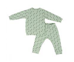 Dětské pyžamo Lodger Sleeper Print Rib Silt Geen
