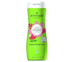 Dětské tělové mýdlo a šampon (2 v 1) Attitude Little leaves s vůní melounu a kokosu 473 ml