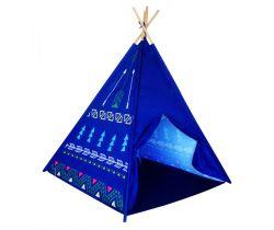 Dětský indiánský stan EcoToys Dark Blue