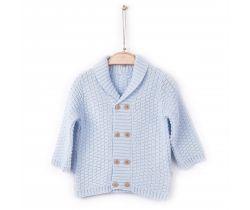 Pletený svetr Kitikate Lokta Blue