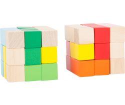 Dřevěná barevná skládací kostka 1 ks Small Foot
