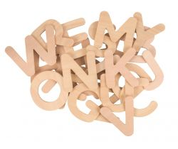 Dřevěná abeceda Bigjigs Toys Velká písmena
