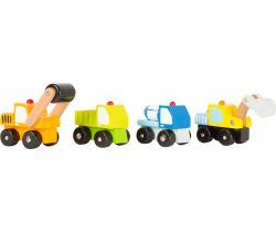 Dřevěná autíčka 1 ks Small Foot Stavební stroje