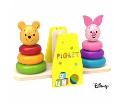 Dřevěná balanční hra Derrson Disney Medvídek Pú a Prasátko