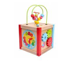 Dřevěná edukační kostka BabyMix Malá