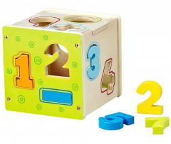 Dřevěná edukační kostka BabyMix Number