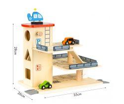 Dřevěná garáž s výtahem a čerpací stanicí EcoToys