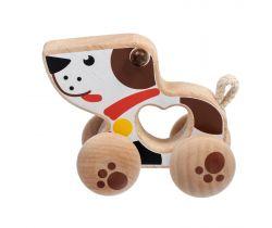 Dřevěná hračka Lucy&Leo Dog on Wheels