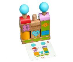 Dřevěná hračka Lucy&Leo Figures & Emotions Smart stacker