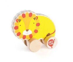 Dřevěná hračka Lucy&Leo Lion on Wheels