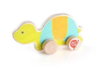 Dřevěná hračka Lucy&Leo Turtle on Wheels