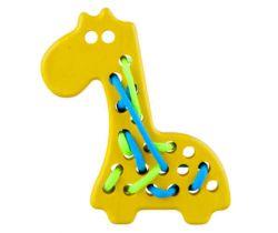 Dřevěná hračka přešívanka Lupo Toys Giraffe