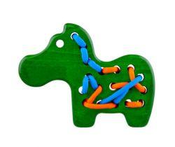 Dřevěná hračka přešívanka Lupo Toys Zebra