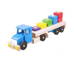 Dřevěná hračka s kostkami 1-5 Lupo Toys Lorry