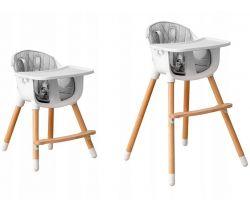 Dřevěná jídelní židlička 2v1 EcoToys