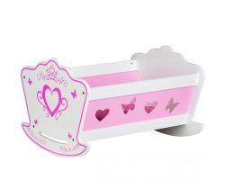 Dřevěná kolébka pro panenky EcoToys Pink