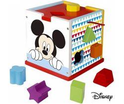 Dřevěná kostka s tvary Derrson Disney Mickey Mouse