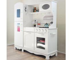 Dřevěná kuchyňka s příslušenstvím Derrson XXL Bílá