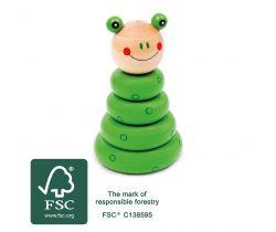 Dřevěná motorická nasazovací hra Small Foot Sestavitelná žába
