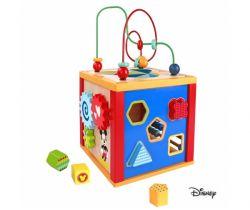 Dřevěná multifunkční kostka 5v1 Derrson Disney Mickey