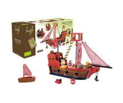 Dřevěná pirátská loď 36m+ Jouéco