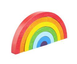 Dřevěná skládací hračka Lupo Toys Rainbow