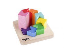 Dřevěná skládací pyramida Lupo Toys Fish