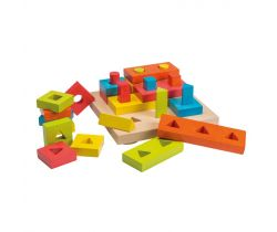 Dřevěná skládačka puzzle 28ks 24m+ Jouéco
