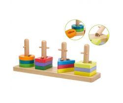 Dřevěná skládačka puzzle Jouéco