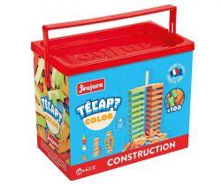 Dřevěná stavebnice 100 dílků Jeujura TECAP