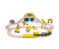 Dřevěná vláčkodráha Bigjigs Rail Safari