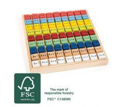 Dřevěná vzdělávácí tabulka Small Foot Násobilka