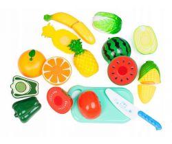 Plastová zelenina a ovoce s prkénkem EcoToys