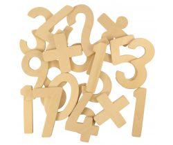 Dřevěné číslice se znaménky Bigjigs Toys