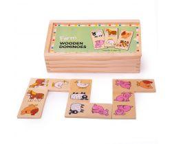 Dřevěné domino Bigjigs Toys Farma