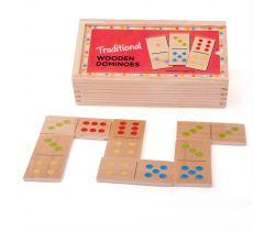 Dřevěné domino Bigjigs Toys Klasické